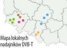 Mapa lokalnych nadajników DVB-T