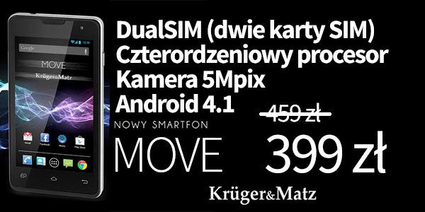 Kruger & Matz Move Black KM0401