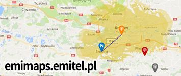 Mapa nadajników Emimaps