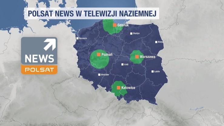 Polsat News HD wtelewizji naziemnej. Nowe nadajniki emisji testowej.
