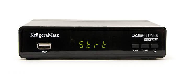 Przykładowy tuner DVB-T HEVC marki Kruger & Matz