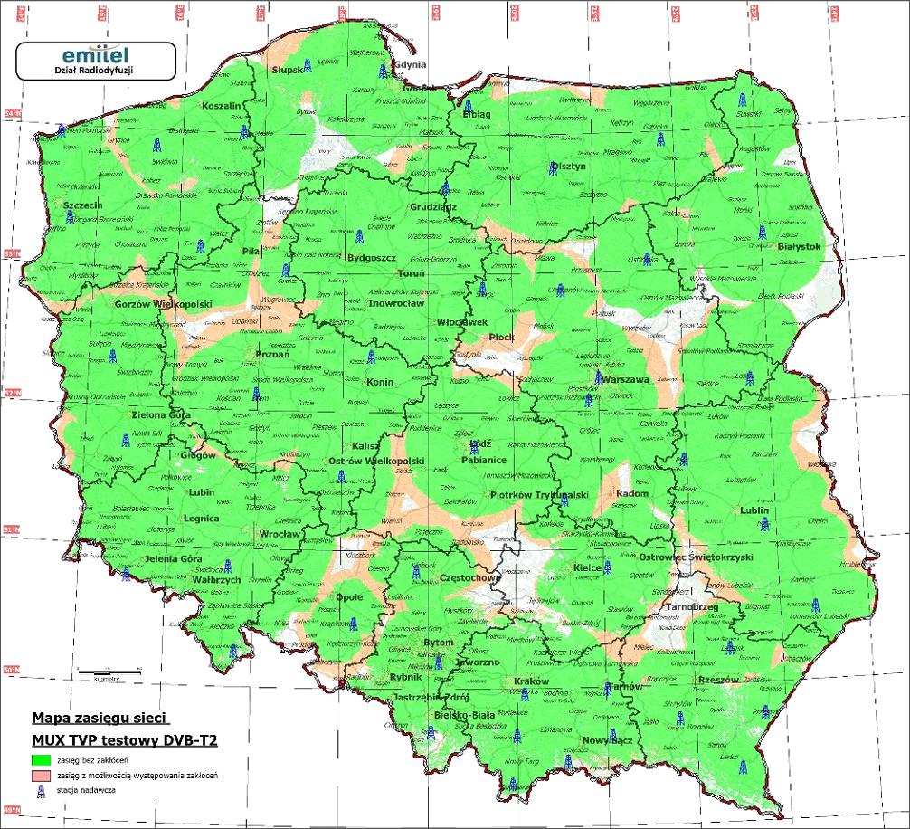 tvp dvb-t2 mapa zasięgu
