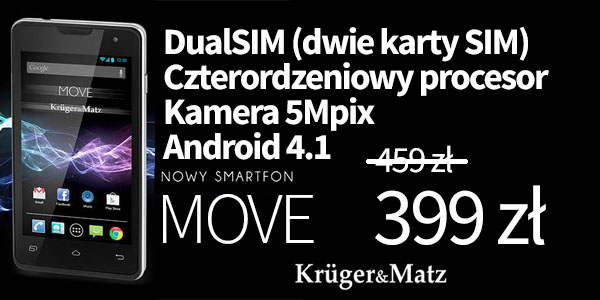 Kruger & Matz Move Black KM0401